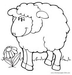 color sheep free coloring pages of baby