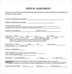 Agreement Letter For Lease Interesting Blank Rental Agreement Template For Resort Lease With Detail Information And Check