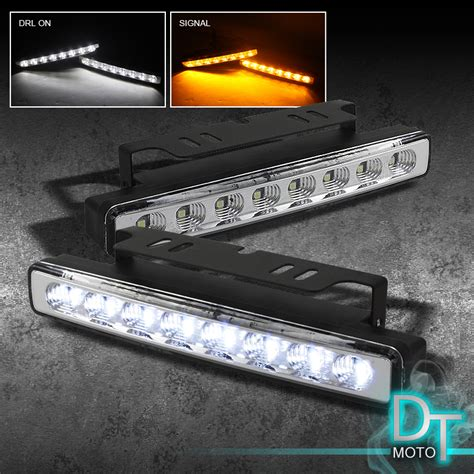 led lights for truck bumpers white drl led fog ls bumper turn signal lights