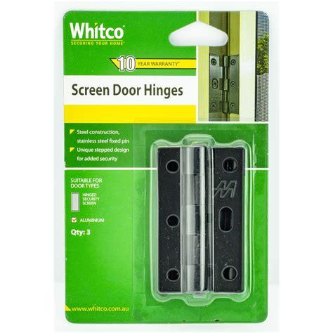 screen door hinge whitco black screen door hinge bunnings warehouse