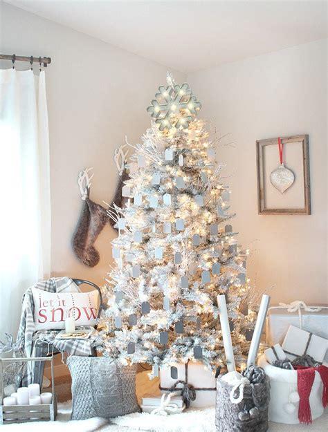 191 c 243 mo decorar un 225 rbol de navidad blanco
