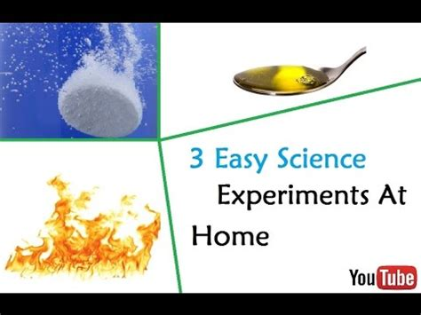 3 easy science experiments at home