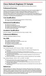 network engineer resume sle cisco cisco network engineer cv sle myperfectcv