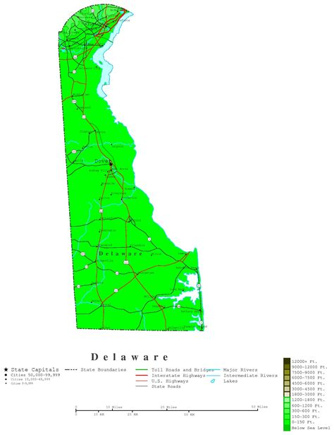 detailed map of delaware delaware contour map