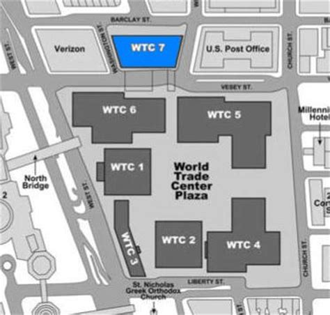 building site plan file wtc building arrangement and site plan building 7