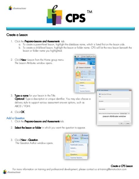 cps lesson plan template step by step create a cps lesson
