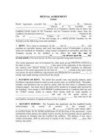 Agreement Letter Between Tenant And Landlord Best Photos Of Printable Rental Agreement Template Landlord Printable Rental Lease Agreement