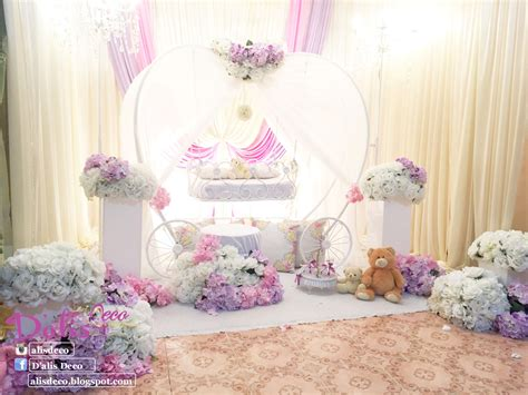 design pelamin aqiqah cinderella pumpkin cradle decoration baby cradle for