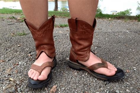 cowboy boots sandals cowboy boot sandals are the craziest new summer fashion trend
