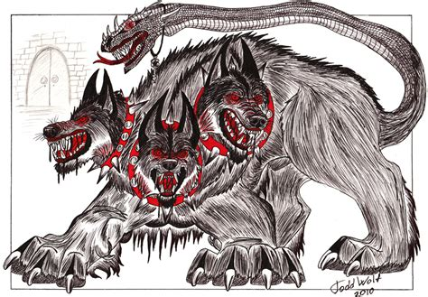 cerberus by ansticewolf on deviantart