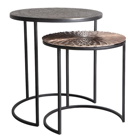 nesting side table set willow nesting side tables set of two primrose