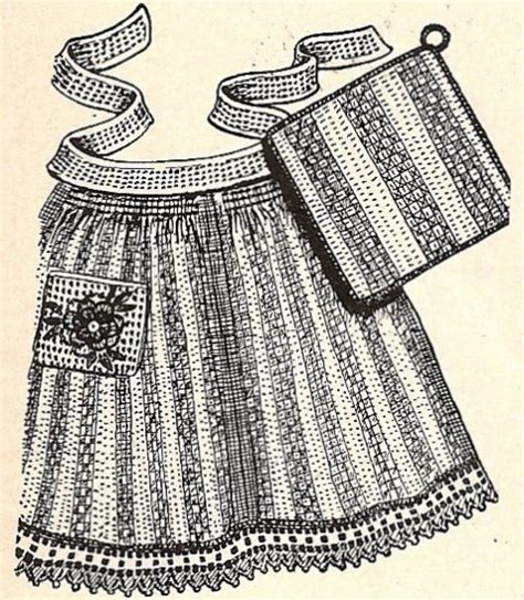 easy apron pattern uk aprons pan holders from dish cloths pattern with crochet