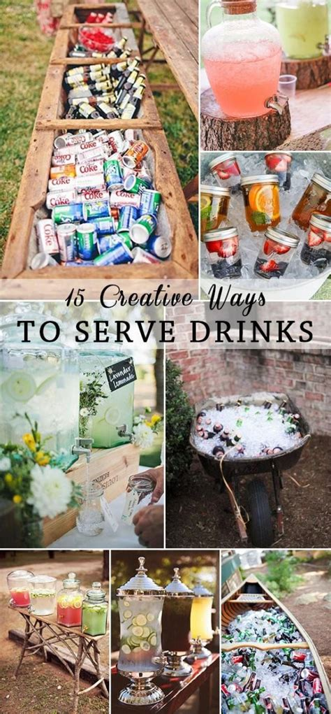 Serving At Your Wedding Our One 3 by 15 Creative Ways To Serve Drinks For Outdoor Wedding Ideas