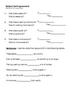 subject verb agreement worksheets for grade 8 abitlikethis