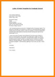 Letter Of Intent Email Template 5 Letter Of Intent Graduate School Resumed