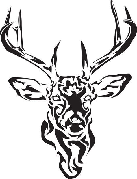 deer head tattoo design 12 stunning tribal deer tattoos only tribal