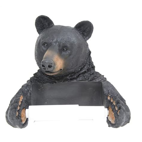 bear toilet paper holder black bear toilet tissue holder