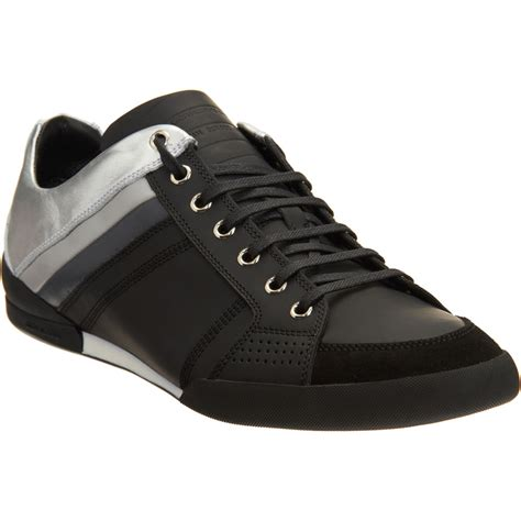 mens sneaker homme metallic sneaker in black for lyst