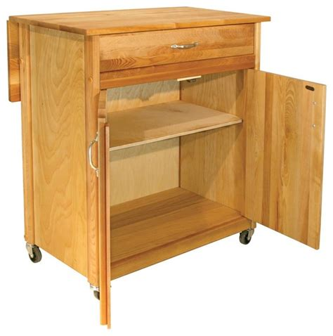 Kitchen Island Cart With Drop Leaf by 2 Door Cart With Drop Leaf Contemporary Kitchen