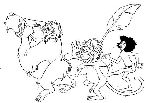 jungle book coloring pages king louie jungle book coloring pages jungle book pinterest
