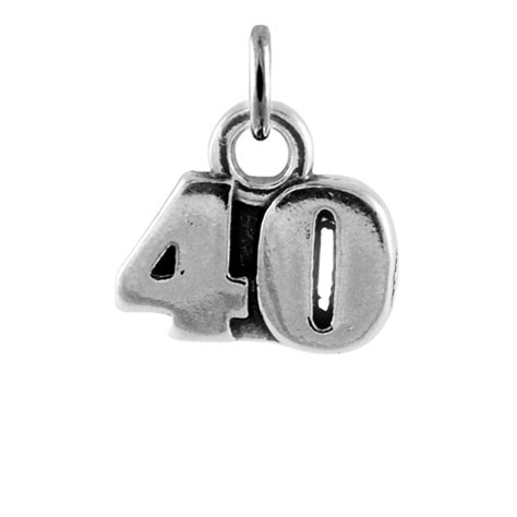 Sterling Silver 40th Birthday Charm