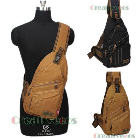 Sling Bag Teeneger 2 Kantong canvas travel hiking cross messenger shoulder