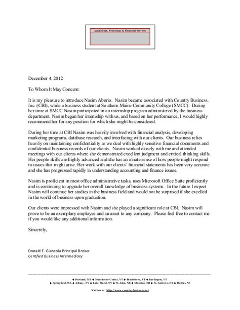 Letter Of Recommendation Principal search results for sle reference letter from a