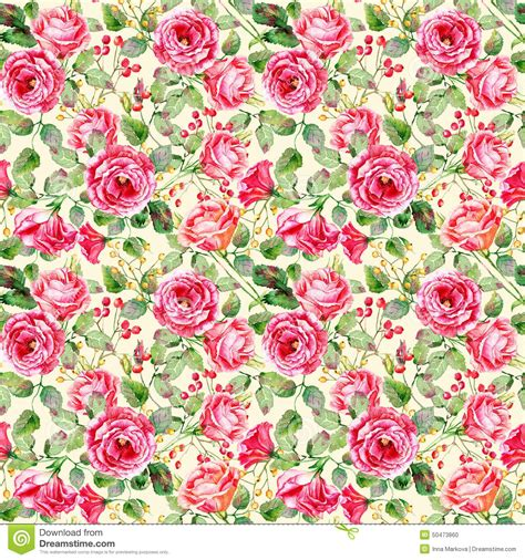 How To Make Wrapping Paper Flowers - seamless pattern of watercolor roses stock