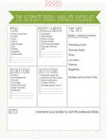 6 best images of printable bridal shower checklist