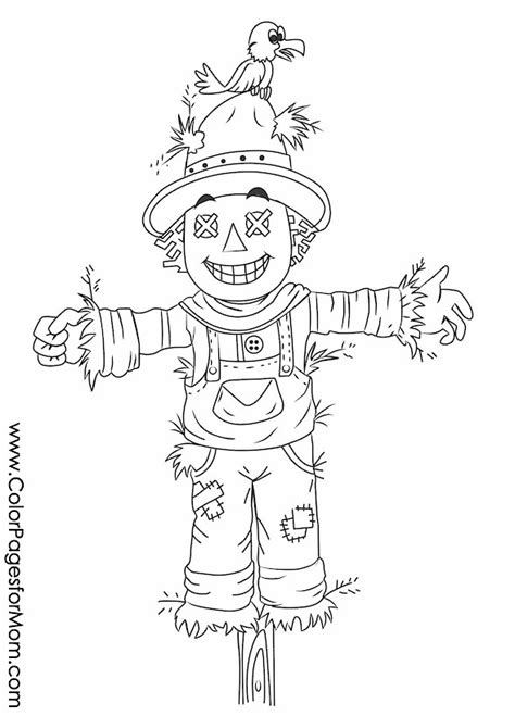 advanced coloring pages halloween scarecrow coloring page