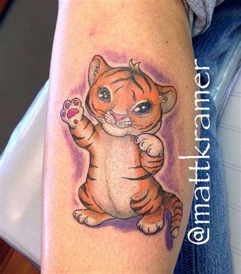 tattoo tiger new school new school tiger kitten tattoo by matt kramer at mind s