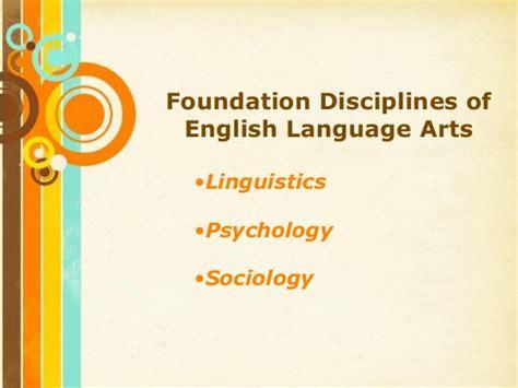 powerpoint themes language foundation disciplines of english language arts