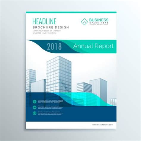 Modern Blue Annual Report Brochure Flyer Template Design For You Download Free Vector Art Graphic Design Resources Templates
