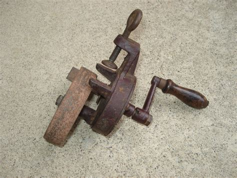 hand powered bench grinder antique bench mounted hand crank grinder stone tool