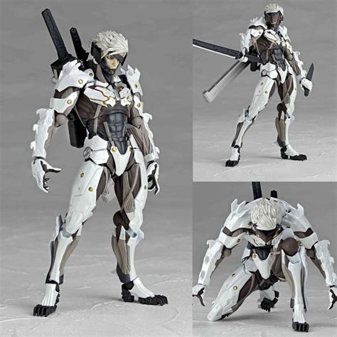 figure metal gear revoltech 140ex raiden white ver metal gear solid rising