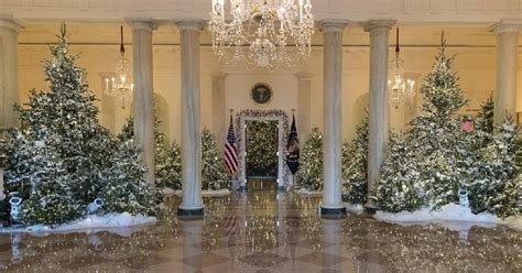 trump white house decorations trump white house patriotic christmas display is maga