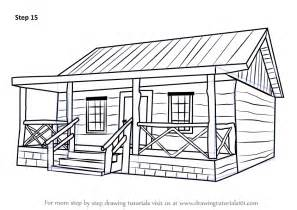 log cabin drawings learn how to draw a wood cabin houses step by step