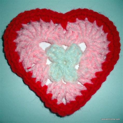 crochet heart pattern pinterest heart coaster free crochet pattern crochet coasters