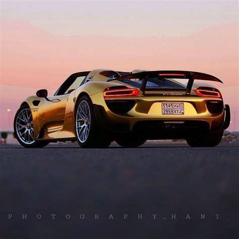 gold porsche 918 gold porsche 918 spyder autofluence