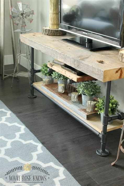 Plumbing Pipe Tv Stand by Reclaimed Wood Black Pipe Tv Stand Black Pipe Tv