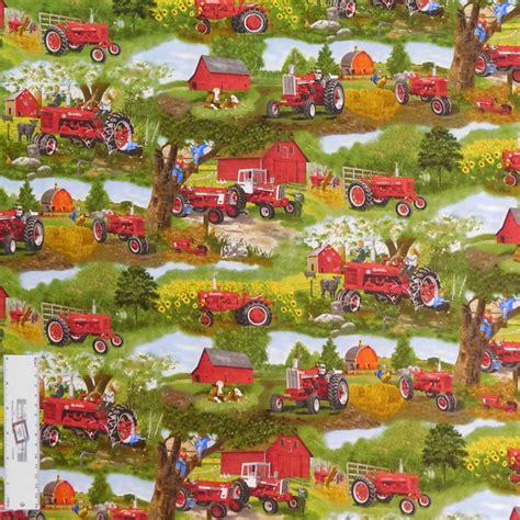 farmyard themed fabric