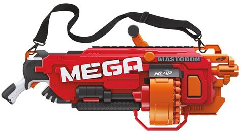 Nerf mega mastodon is a massive gun with rotating drum