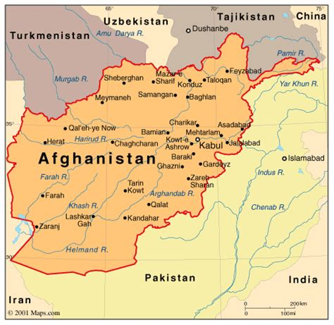 political map of afghanistan political map of afghanistan