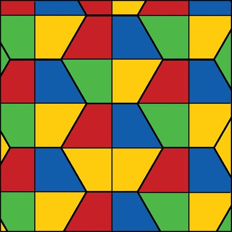 pattern color scheme split hexagons primary color scheme geometric tile