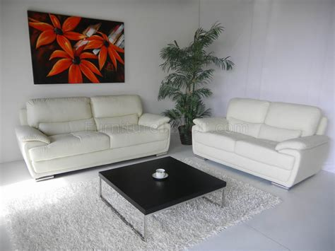 white leather modern elegant sofa loveseat set woptions