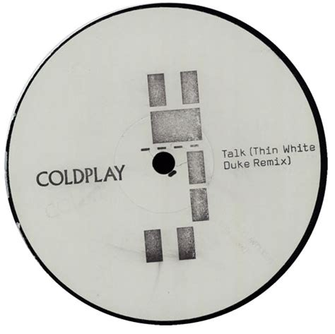 coldplay record label coldplay talk thin white duke remix uk promo 12 quot vinyl