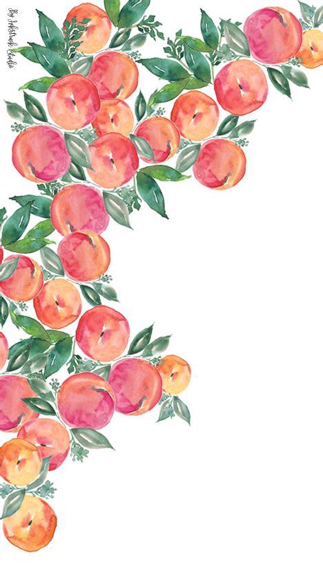 watercolor peach wallpaper iphone inkstruck studio