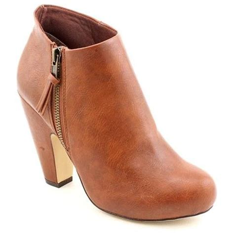 madden lopezzz brown faux leather fashion ankle boots