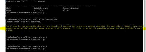 windows 8 reset password net user changing password with quot net user quot