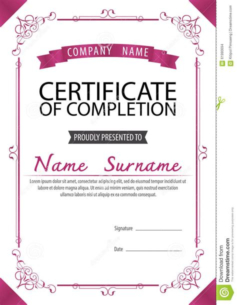 certificate template size a4 size certificate grunge retro paper background stock